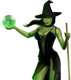 green witch evil look picture and wallpaper