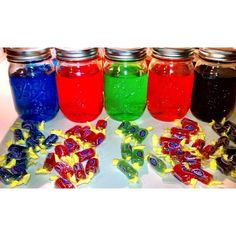 Jolly Rancher Vodka 5 small bottles of vodka Bag of Jolly Rancher  Visit my YouTube channel for a tutorial on how to make these.   #vodka #jollyrancher #candy