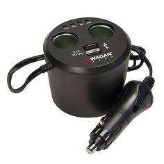 Wagan TWIN USB SOCKETS CUPHOLDER ADAPTER ITEM NUMBER: 2537-5