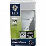 #Staples: Brighton Professional A19 9-Watt LED Dimmable Light Bulb (BPR43464) $2.49 #LavaHot http://www.lavahotdeals.com/us/cheap/brighton-professional-a19-9-watt-led-dimmable-light/105977