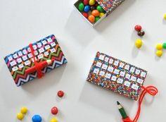 Gyufás doboz, zseb adventi naptár - Masni / Pocket advent calendar made of matchboxes DIY
