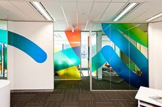 Marble Group sought to refresh their identity, in keeping with rapid expansion across Australia, Rebrand by There Office Graphics, Window Graphics, Office Interior Design, Office Interiors, Window Design, Wall Design, Design Thinking, Window Signage, Office Branding