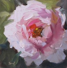 I am on a Peony roll here.just enjoying the process of painting and color. - I am on a Peony roll here….just enjoying the process of painting and color. Can be purchased h - Acrylic Painting Flowers, Oil Painting Flowers, Abstract Flowers, Floral Paintings, Indian Paintings, Art Floral, Guache, Painting Inspiration, Flower Art