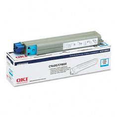 Okidata Corporation 42918903 Toner Cartridge, Cyan