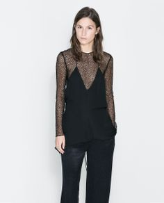 Image 1 of SHEER STUDIO TOP WITH STRAP AT THE BACK from Zara