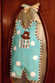 Its a Boy Burlap Overall/JonJon Door by HeartstringsFromHome, $30.00
