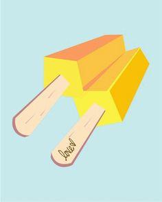 popsicle print / mint buttercup