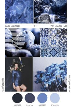Color Quarterly - 2nd Quarter 2020 – eColorWorld Color Trends, Design Trends, Popular Colors, 2020 Design, Season Colors, Stitches, How To Find Out, Blues, Seasons