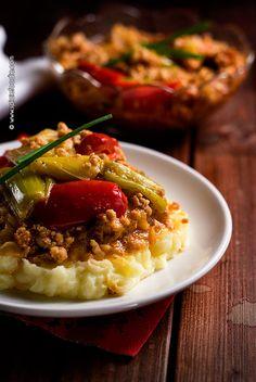 Earth Eats: Albanian Baked Leeks or Tave me presh Recipe | #Albanianfood #leeks #casserole