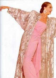 Daniela Ghione Valentino Haute Couture Spring/Summer 1986 photo Oliviero Toscani