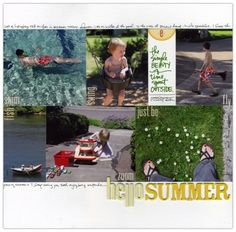 Have I mentioned how much I love Ali Edwards' work? Look how her photos do the talking here (from her blog http://aliedwards.com/2011/07/studio-ae-blog-hop-july-scrapbook-layout.html?utm_source=feedburner&utm_medium=feed&utm_campaign=Feed%3A+aliedwards+%28{+A+}%29)