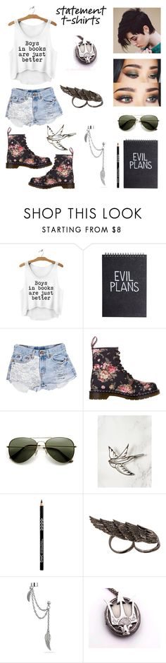 """""""Statement t-shirts"""" by sapphire6637 ❤ liked on Polyvore featuring Urban Eclectics, Dr. Martens, AS29, Bling Jewelry and Once Upon a Time"""