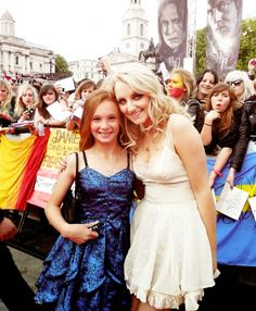Lily Luna Potter's two namesakes! (Ellie Darcey Alden who plays young Lily Evans and Evanna Lynch who of course plays Luna)