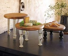 Cutting Boards + Spindles = lovely... serving trays