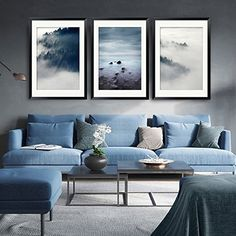 living room sofa - Paintsh Scandinavian Style Living Room Interior Design Modern Minimalist Living Room Sofa Wall Decorative Painting Triple Paintings, 50 A Set of 3 Sets of Clouds Price Easy Living Room Furniture Zone Find out more at the image link.
