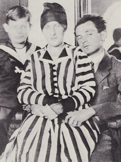 Egon and Edith Schiele with Edith's nephew Paul Erdmann, 1915
