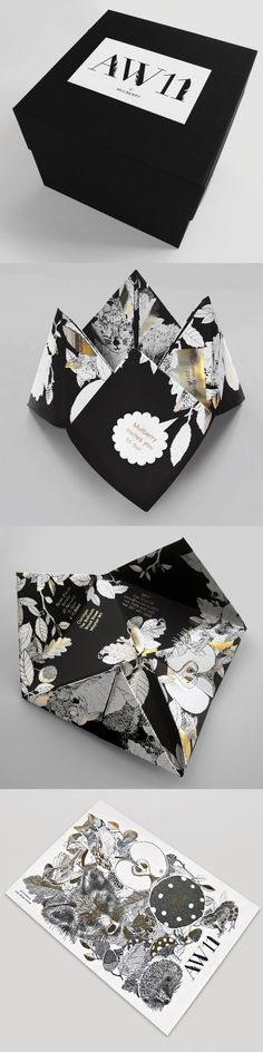 Self promotion idea. Create a beautiful invitation to a new client to come and see your work. This is a beauty done by Mulberry AW11 show invite - well done!