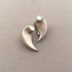 """Gallery 925 - Antonio Pineda """"Wave"""" Earrings, Handmade Sterling Silver"""
