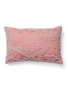 Beaded Border Pillow by Diane von Furstenberg Bedding on Gilt Home - have this in my room, its kinda coral coloured  looovvee it