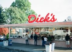 """Dick's Drive-In Esquire called Dick's the most """"life-changing"""" burger in America. This isn't the most gourmet burger in town, but it may be the cheapest and it's certainly one of the most delicious. Just don't try to special order?they've been served only one way since 1954. Dick's is cash only, so plan ahead.  Dick's Drive-In, multiple locations. Original: 111 NE 45th St"""