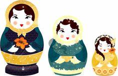 Babushka Russian-Dolls ~ Jenny Lloyd