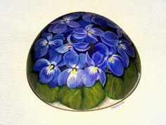 Violettes www.galets-peints.fr