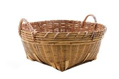 Antique Split Bamboo Laundry Basket with Handles by PlumsandHoney