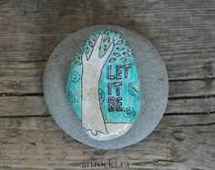 Hoy es buen día piedra arte inspirador citas en por ArtrocksByKaren