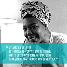 Celebrating Maya Angelou