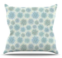 My Delicate Flowers Throw Pillow