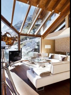 Glass living room