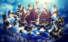 Minecraft Sky City : The Castle between Heaven and Earth