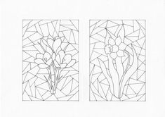 Stained Glass Quilt, Stained Glass Designs, Stained Glass Patterns, Border Embroidery Designs, Applique Quilt Patterns, Easter Colouring, Doodle Coloring, Heart Coloring Pages, Free Coloring Pages
