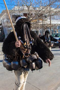 Skyros Island, Greece - Mischief and Masquerade of Carnival Greek Traditional Dress, Traditional Outfits, Folk Costume, Religious Art, Greek Islands, World Cultures, Masquerade, Riding Helmets, Greece