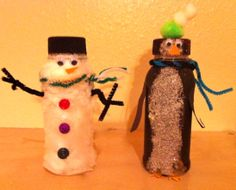 Easy upcycled kids Christmas crafts using Whataburger milk jugs. - Simple and cute