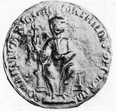 Empress Matilda Matilda's great seal, the image possibly an accurate likeness of Matilda herself