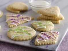 Classic Sugar Cookies (Cookie Exchange Quantity) Recipe from Betty Crocker Betty Crocker, Cookie Recipes, Dessert Recipes, Vegan Desserts, Dessert Ideas, Vegan Sugar Cookies, Cookie Exchange, Holiday Baking, The Best