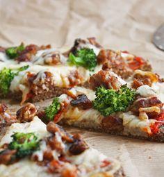 Low Carb Flax & Parmesan Pizza Crust (Gluten Free)   I Breathe I'm Hungry