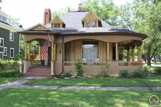 Take a look at this charming 4 bath Queen Anne home in Emporia. This home, known as the Keebler house, is on the National Historic Register and is one of Emporia's most historic homes. Study Architecture, Wood Fireplace, Old House Dreams, Queen Anne, Historic Homes, Old Houses, Emporia Ks, Beautiful Homes, Gazebo