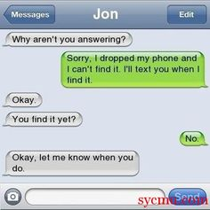 The Funniest iPhone Message Conversation