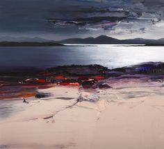 Welcome to Gullane Art Gallery - Contemporary British Art with a Scottish Focus. Have a look through our website or call us on 01620 843 082 Seascape Paintings, Nature Paintings, Landscape Paintings, Van Gogh, Paint Photography, Guache, Art For Art Sake, Abstract Landscape, Art Gallery