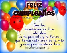 Happy Birthday Wishes Cake, Happy Birthday Fun, Birthday Greetings, Birthday Quotes For Him, Birthday Messages, Spanish Inspirational Quotes, Bday Cards, Happy B Day, Grande