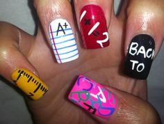 school nail design