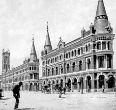 The Fish Market on Flinders Street West,Melbourne in Victoria.Built in 🌹 Melbourne Suburbs, West Melbourne, Melbourne Victoria, Victoria Australia, Melbourne Australia, Brisbane, Sydney, Victorian Architecture, Historical Architecture
