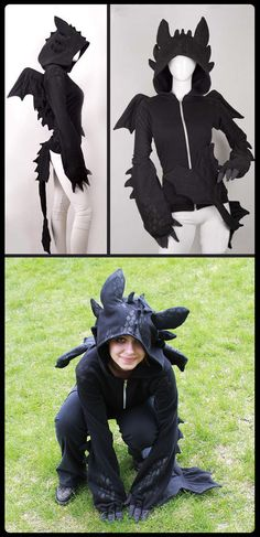 Toothless dragon hoodie… Apparently I need to make myself one of these!