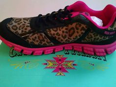 Crazy Train Women's Cheetah Run Wild Athletic Shoes Size 12 Pink-Fits like 11 #CrazyTrain #Athletic