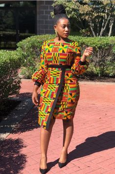 African Print Dress Custom made Ankara dress African Dress Kente Perfect for wedding, birthdays, parties etc. Available in any size, color & style Basic Shipping: 10 - 14 days Express Shipping: 5 - 7 days Ships Worldwide: All Countries Best African Dresses, African Fashion Ankara, African Inspired Fashion, Latest African Fashion Dresses, African Print Dresses, African Print Fashion, African Attire, African Dress Designs, African Clothes