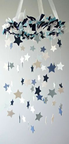 Star Mobile- Blue Nursery Mobile, S