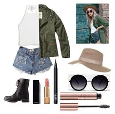 """""""Untitled #77"""" by segevinbar13 on Polyvore featuring Charlotte Russe, Monki, Hollister Co., Topshop, Chanel and NARS Cosmetics"""