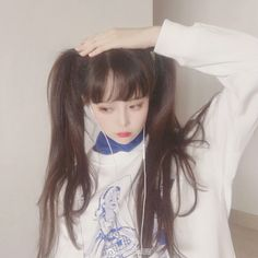 a cutie with pigtails Ulzzang Korean Girl, Cute Korean Girl, Cute Asian Girls, Cute Girls, Korean Girl Fashion, Uzzlang Girl, Grunge Girl, Beautiful Anime Girl, Cute Girl Outfits